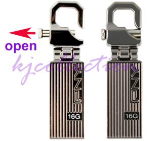 PNY Transformer Attache 64GB 64G USB Flash Pen Drive Stick Disk Hinge Hook Metal 751492495064