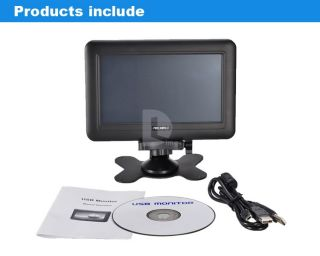 Feelworld 7 inch Touch Screen LCD HD Monitor USB Powered w VGA for PC Laptop Mac