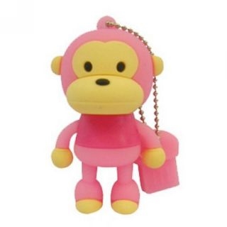 Funny 8GB Cartoon Monkey USB Flash Memory Stick Drive Keychain Drive