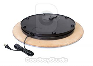 "Heavy Duty Max Loading 80kg Rotating Display Stand Turntable 60cm 24"" Dia 220V"