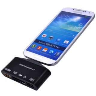 OTG Micro USB SD Card Reader HDMI Adapter Camera Connection Kit 4 Galaxy Phone