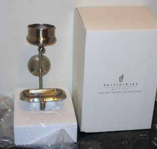 Pottery Barn Hotel Wall Mount Cup Soap Holder Nickelnip