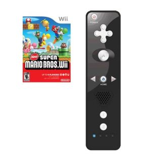 New Super Mario Bros Wii Wii Remote Controller Black