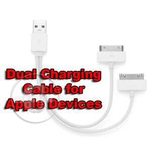Duo Dual Charge Sync USB Cable for Apple iPhone 3GS 4 4S 5 5S iPad 3 4 Mini New