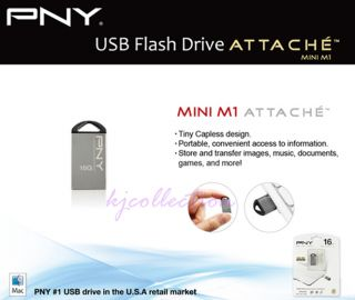 PNY 32GB 32G USB Flash Mini Nano Drive Rugged Metal Capless Attache Mini M1