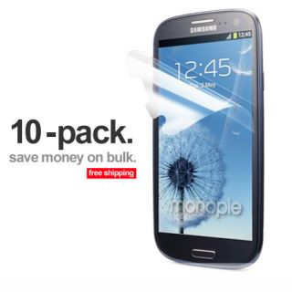 10 Pack of Clear LCD Screen Protector HD Guard for Samsung Galaxy S3 III I9300