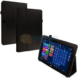 Black Flip Stand Leather Case Cover Pouch for Microsoft Surface RT 10 6 Tablet