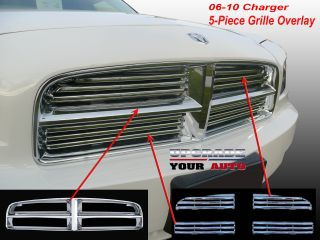 "2006 2010 Dodge Charger Chrome Grille ""5 Piece"" Grill"