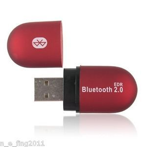 Bluetooth V2 0 Wireless USB Adapter Dongle Windows XP Windows 7 for PC Red