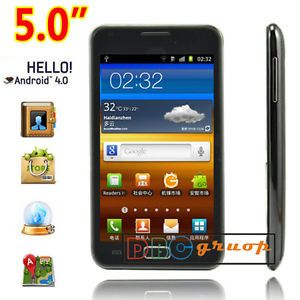 "5"" Capacitive Touch Screen Dual Sim Android 4 0 Mobile Smart Phone 3G Wi Fi GPS"