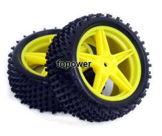 RC 4pcs Front Rear Tires Insert Sponge Wheel HSP 1 10 Off Road Buggy 66008 66028