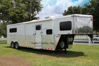 New Sundowner Horizon SE 3 Horse SL Aluminum Gooseneck Living Quarters Trailer