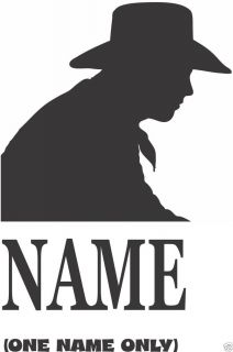 Cowboy Custom with Name Equestrian Tack Truck Trailer Vinyl Sticker Decal 8""