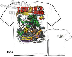 Hot Rods Rat Fink T Shirt Ed Big Daddy Clothing Mysterion Tee Sz M L XL 2XL 3XL