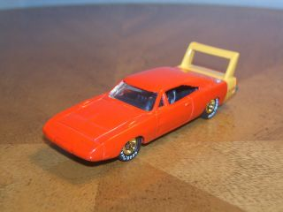 Hot Wheels 1996 1970 Dodge Charger Daytona Real Rider Rubber Goodyear Tires Red