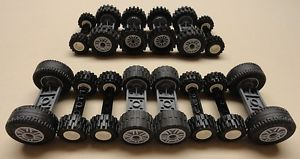 70 PC Lego Wheels Vehicle Parts Car Truck Tires Rim Sets Lot lbs Pounds