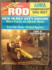 Modern Rod Magazine Nov 1965 Hot Rods Hi Rev Offy Engine Cactus Country Coupe