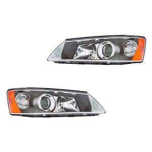 Fits 2006 2008 Sonata Sedan Clear Head Light Lamp Headlight Assembly 1 Pair