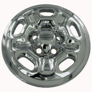"4 PC Set Tacoma 15"" Chrome Wheel Skins Hubcaps Covers Hub Caps Simulators 5 Lug"