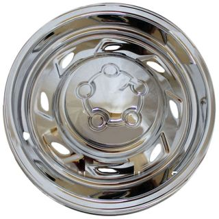 "Ford Explorer Wheel Skin 1 Piece 15"" inch Hub Cap Chrome 8 Spoke 5 Lug Rim Cover"