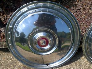 Set of 4 1955 1956 Ford Thunderbird Hubcaps 55 56 T Bird