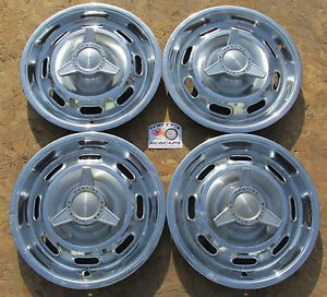 "1964 Pontiac GTO LeMans Tempest 14"" Spinner Hubcaps Wheel Covers Set of 4"