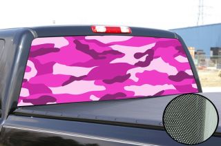 Pink Camo Camouflage Window Tint Decal Sticker Graphic Truck F150 RAM 1500 F250