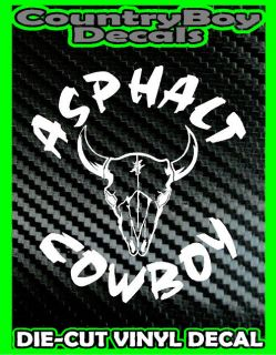 Asphalt Cowboy Vinyl Decal Sticker Diesel Truck Country Farm Car Tractor Mud