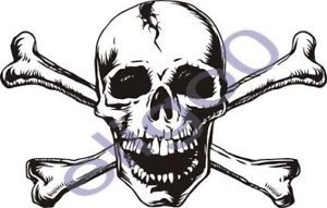 1x Skull Sticker Motorcycle Gas Tank Car Bumper DECAL23