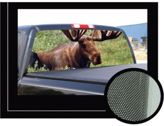 "MOOSE1 22"" x 65"" Rear Window Graphic Back Truck Decal SUV View thru Vinyl Moose"