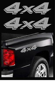 "4x4 Decal Truck Decals Dodge Dakota Offroad Stickers 2 Pack Size 3 25"" x 13"""