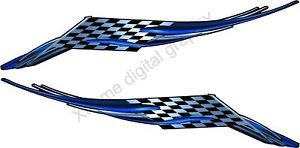 Car Truck Decals Checker Flag Boat Trailer Vinyl Graphics 6ft Up