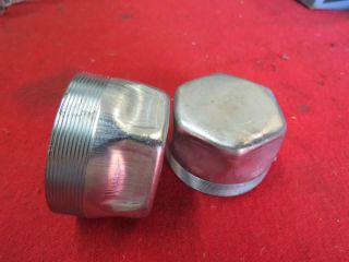 1936 42 Ford Front Wheel Bearing Dust Caps  Flathead
