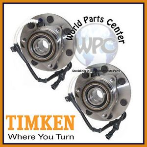 TIMKEN 2 Front Wheel Bearing Hub Assembly Ford F150 F250 4WD 4 Wheel ABS 7 Stud