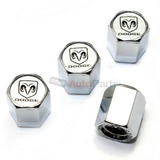 4 Dodge RAM Logo Chrome ABS Car Truck Tire Wheel Stem Air Valve Caps Covers