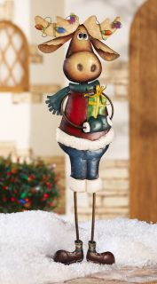 Marvin Moose Holiday Garden Lawn Yard Outdoor Stake Christmas Winter Decoration