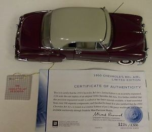 Franklin Mint 1950 Bel Air 1 24 Scale Limited Edition 1236 of 2500