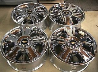 "New Chevy Silverado Suburban Tahoe Avalanche Chrome 20"" Factory Wheels Rims"