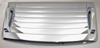 Hummer H3 Triple Chrome Hood Vent Cover w Handles