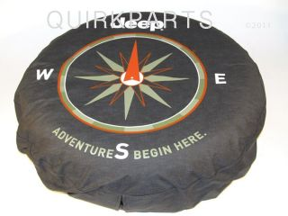 "1997 2013 Jeep Wrangler 16"" Tire Cover ""Adventure Begins"" Mopar Genuine New"