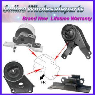03 08 Nissan Murano 4WD 3 5L A T Transmission Engine Motor Mount Set Save M266