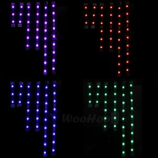 Set Motorcycle 5050 SMD RGB LED Strip Light Flexible Remote Control 12V DC