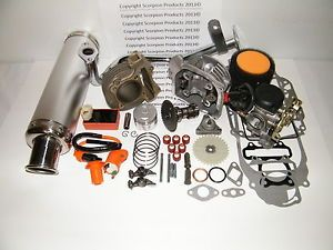 100cc Big Bore Kit Performance Power Pack Silver Exhaust Chinese Scooter Parts