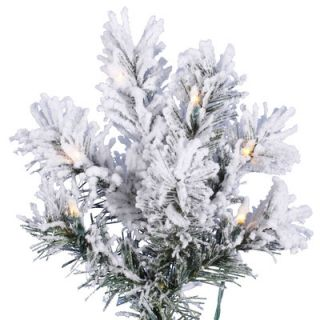 Vickerman 9 White Pine Artificial Christmas Tree with 700 Clear Lights and Flocked