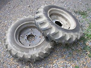 Power King Economy Tractor Lawn Mower 1614 Rear AG Lug Tires Rims Titan 7 16