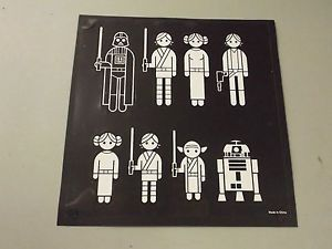Star Wars Family Car Decals 40 Decals