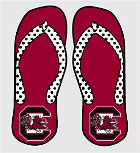 South Carolina Gamecocks Flip Flops Car Decals Stickers