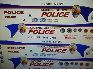 US Marine Corp Police Car Decals 1 24 Custom