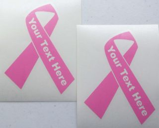 Ribbon 2 Vinyl Car Decals Custom Personalized Your Text