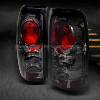 Smoked 99 02 Chevy Silverado GMC Sierra Pickup Truck Tail Lights Lamps Pair Set